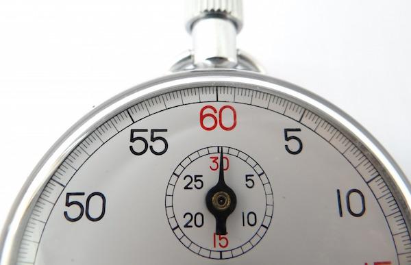 tidtagningsur - hvor lang tid skal du bruge på at få dit barn i seng?