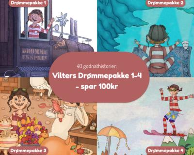 Bundle: VIlters godnathistorier pakke 1-4
