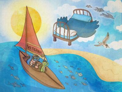 Læs-selv: En sejltur på skyerne - en Vilter Ørngot historie med lixtal 9