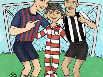 Læs selv-historie: Mig og Gonaldo på fodboldbanen