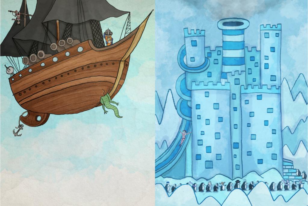 To fartglade drager og en sørøver i gips - del 1 & 2