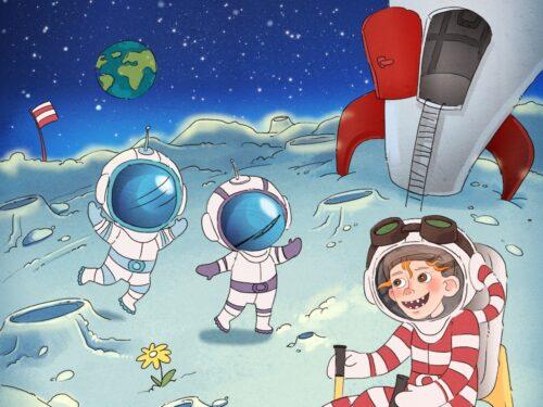 Vilter og Den fabelagtige historie om dit barn på månen