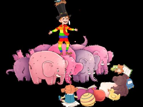 Vilter og lyserøde elefanter