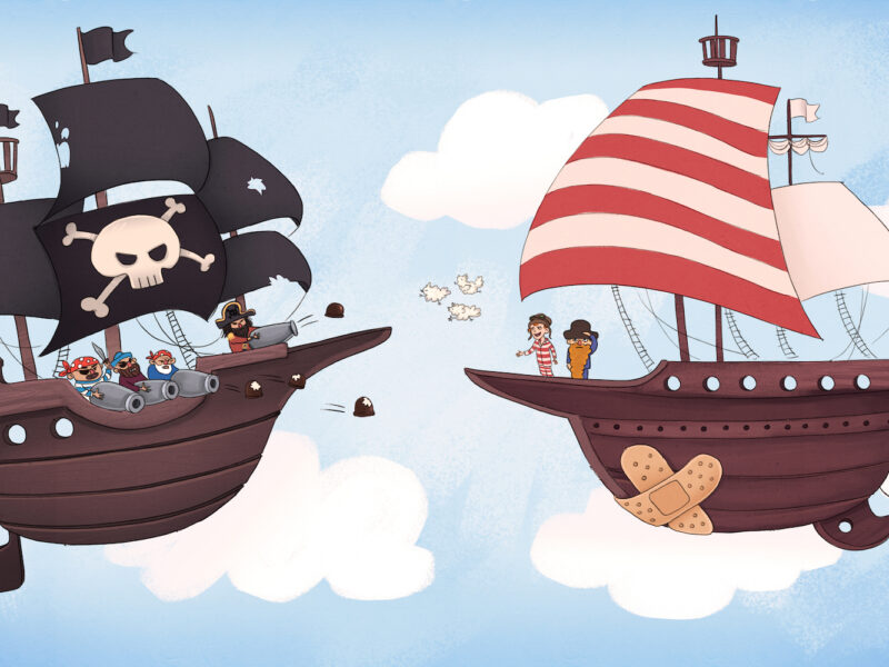 Vilter og det drabelige slag mod sky-piraterne