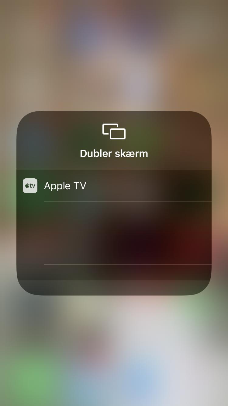 iiPhone: vælg hvad du deler din skærm med