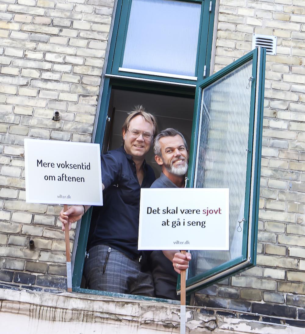 Lars Henriksen og Anders Larson fra Vilters godnathistorier