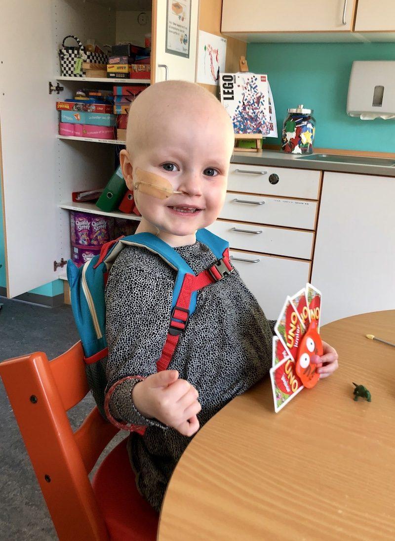 4-årige Gry har leukæmi